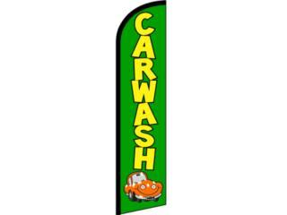 Banner Car Wash Light Green Yellow 3 x 11.5Ft, Puerto Rico