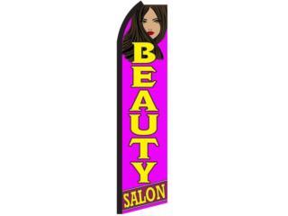 Banner Beauty Salon Purple Yellow 2.5 x 11.5F, Puerto Rico