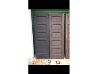 "(2) Puertas Caoba Antiguas 26"" x 80"", Puerto Rico"