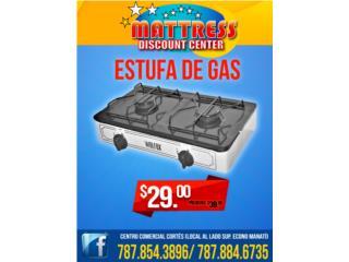Estufas de Gas de 2 Hornillas Nuevas, Puerto Rico