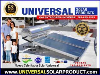 CALENTADOR UNIVERSAL 8 MOD/ HURACAN CERT., Puerto Rico