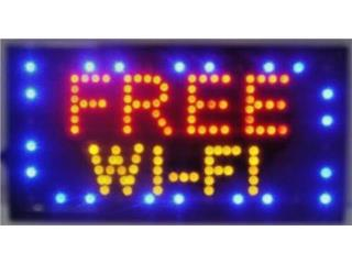 LED Sign FREE WIFE 19 x 10, Puerto Rico