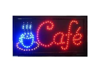 Led Sign CAFE 19 x 10, Puerto Rico