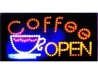 Led Sign COFFEE OPEN 19 x 10, Puerto Rico