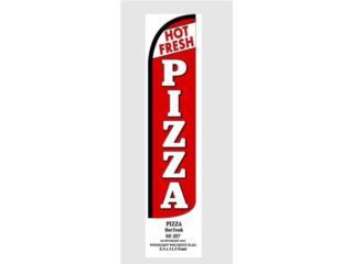 Bannner HOT FRESH PIZZA 3 x 11.5, Puerto Rico