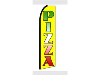 Banner PIZZA YW/GR/RD 3 x 11.5, Puerto Rico