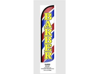 Banner BARBER RD/WH/BL/GR 2.5 x 11.5, Puerto Rico
