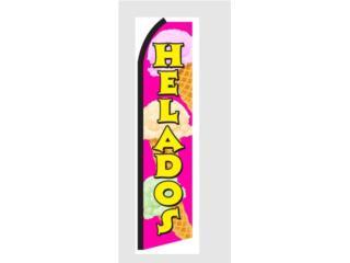 Banner HELADOS 2.5 x 11.5, Puerto Rico