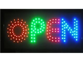 LED Sign OPEN TRI-COLOR (2) 19 x 10, Puerto Rico