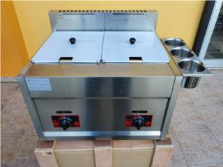 Gas Deep Fryers Unit, Two, 22 X 13.5 X 19.5, Puerto Rico