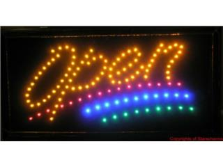LED Sign OPEN 3 LINE 19 x 10, Puerto Rico