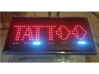 LED SIGN TATTOO 19 X 10 IN., Puerto Rico