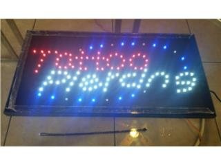 LED SIGN TATTO PIERCING 19 X 10 IN., Puerto Rico