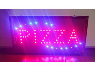 LED SIGN PIZZA 19 X 10 IN., Puerto Rico
