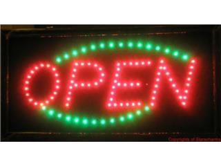 LED Sign OPEN RED/GREEN 19 x 10, Puerto Rico