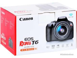 Canon EOS Rebel T6 EF-S 18-55 IS II Kit, Puerto Rico
