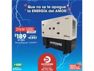 !!!ENAMORATE DE LA 21KW DE OUTPOWER $9997!!!, Puerto Rico