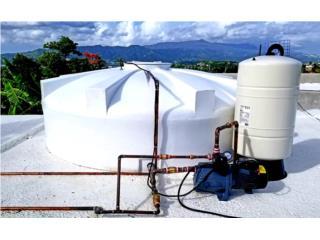 Cisternas de agua. DELTA, Puerto Rico