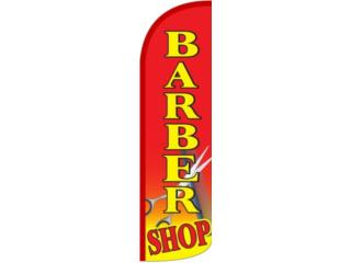 Banner BARBER SHOP RD,YW,BL. 2.5 x 11.5, Puerto Rico