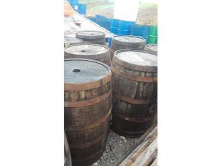 barriles rusticos importados en madera, Puerto Rico