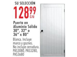 Puerta en aluminio sólida, Puerto Rico