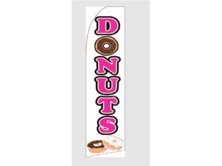 Banner DONUTS WH/PUR/BL 2.5 x 11.5, Puerto Rico