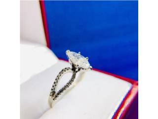 Anillo Compromiso Diamante Marquez de 0.93CTW, Puerto Rico