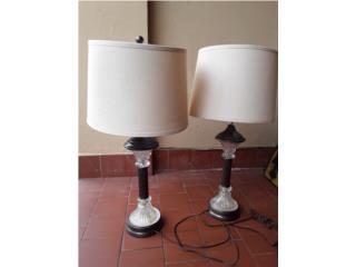 2 Lámparas. Finas. Estilo semi antiguo, Puerto Rico