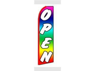 Banner Open Rainbow 2.5 x 11.5, Puerto Rico