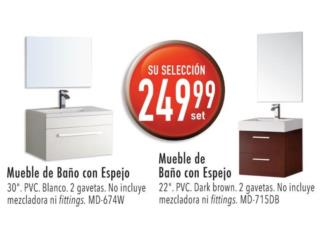 Mueble de baño con espejo, Puerto Rico
