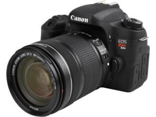 Camara Canon EOS Rebel T6s con bulto y flash, Puerto Rico