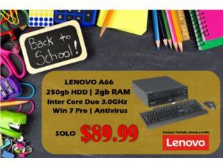 Lenovo A66 -Windows 7 PRO solo $89.99!!!, Puerto Rico