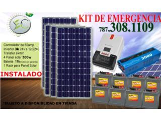 Sistema Solar de Emergencia 3024 (120/240v), Puerto Rico
