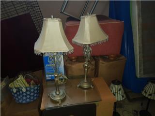 2 lámparas. Garage sale, Puerto Rico