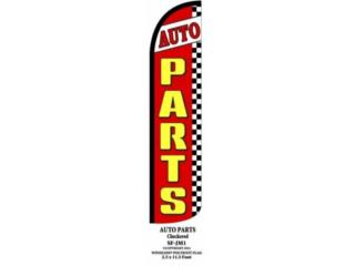 Banner AUTO PARTS RD/YW/CHECK 2.5 x 11.5, Puerto Rico
