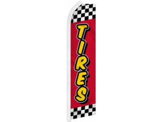 Banner TIRES RD/STRIPES 2.5 x 11.5., Puerto Rico