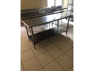 mesa de trabajo (stainless steel) 30x72, Puerto Rico