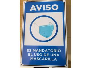 AVISO MANDATORIO USO MASCARILLA , Puerto Rico