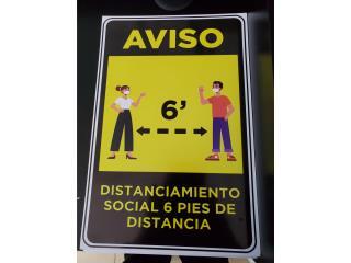 AVISO DISTANCIAMIENTO 6', Puerto Rico