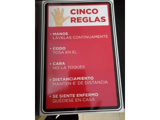 AVISO CINCO REGLAS 8 X 11, Puerto Rico