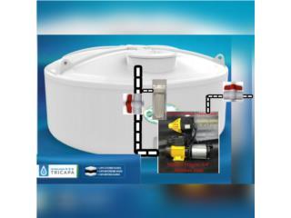 Cisternas 3 capas con sistema de motobomba., Puerto Rico