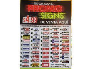 ECONOMIC PROMO SIGNS, Puerto Rico