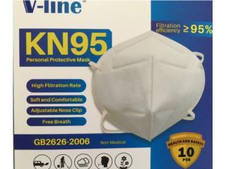 KN95 $20 Paquete 10 Entrega Inmediata todo PR, Puerto Rico