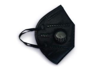 Black Mask KN95 con Válvula - Caja 50 , Puerto Rico