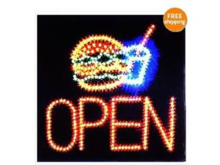 Led Sign SANDWHICH, SHAKE OPEN 19 X 19, Puerto Rico