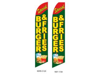 BANNER SPECIAL BURGERS & FRIES GR/YW/RD , Puerto Rico