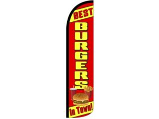 Banner BEST BURGER IN TOWN 3 x 11.5Ft., Puerto Rico