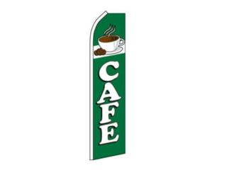Banner CAFE 2.5 x 11 GN/WH, Puerto Rico