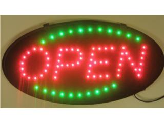 LED Sign OVAL OPEN RED/GREEN 19 x 10, Puerto Rico