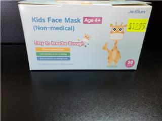 50 PCS Kids Face Mask Age 4* Medical Face Mas, Puerto Rico